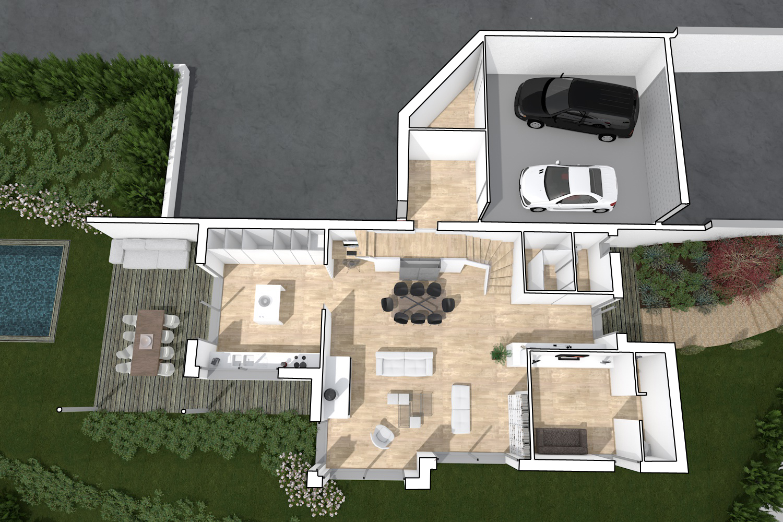 Plan interieur maison contemporaine maison contemporaine - Plan interieur de maison ...
