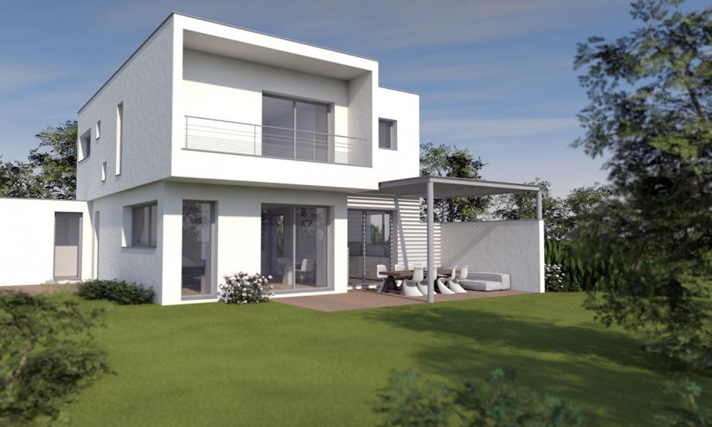 projet dune maison moderne cubique lyon
