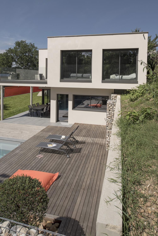 Construction Maison En Pente maison architecte avec terrain en pente lyon | photos