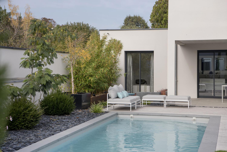 Amenagement Exterieur Terrasse Maison terrasse et piscine avec esprit zen à lyon | photos