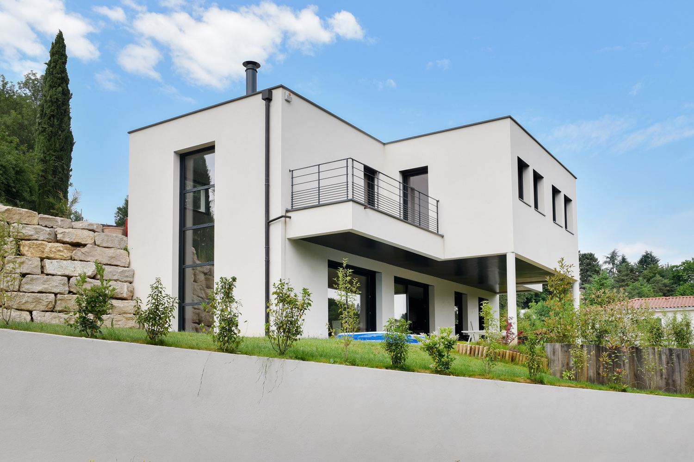 Maison moderne sur terrain en pente ventana blog - Maison moderne sur terrain en pente ...