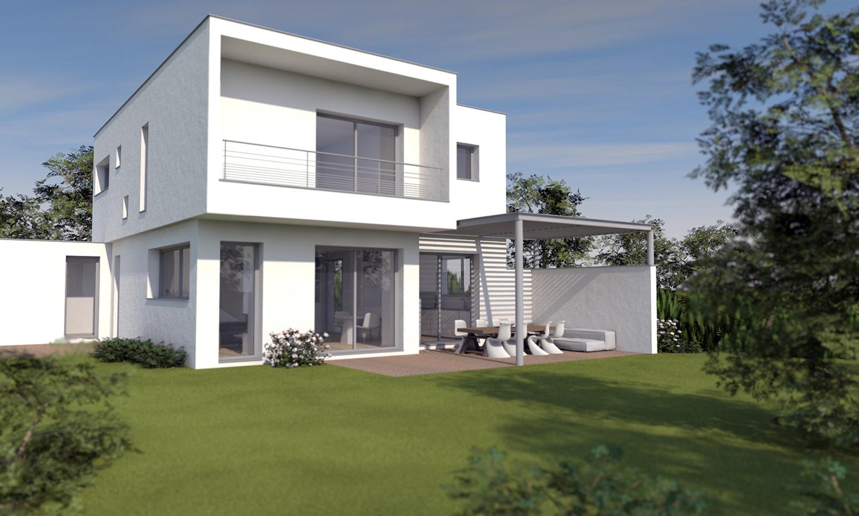 projet maison cubique moderne lyon | Photos intérieurs / extérieurs ...